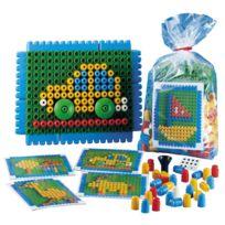 Poly-m - jeu de construction poly'm mosaique +modeles - sachet de 125 pcs