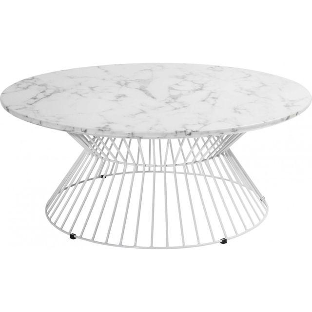 Karedesign table basse ronde cintura 90 cm kare design for Table ronde design 90 cm