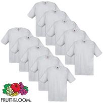 Fruit Of The Loom - 10 t-shirts originaux 100 % coton Gris