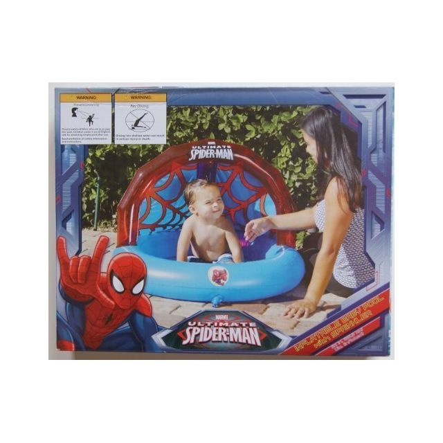 Spider-man Spiderman Inflatable Baby Pool with Sprinkler