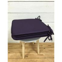 Today - Lot de 4 galettes de chaise 38 cm deep purple
