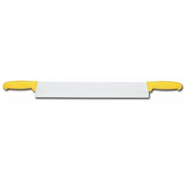 Fischer Couteau à fromage 2 manches Bargoin jaune lame 40cm