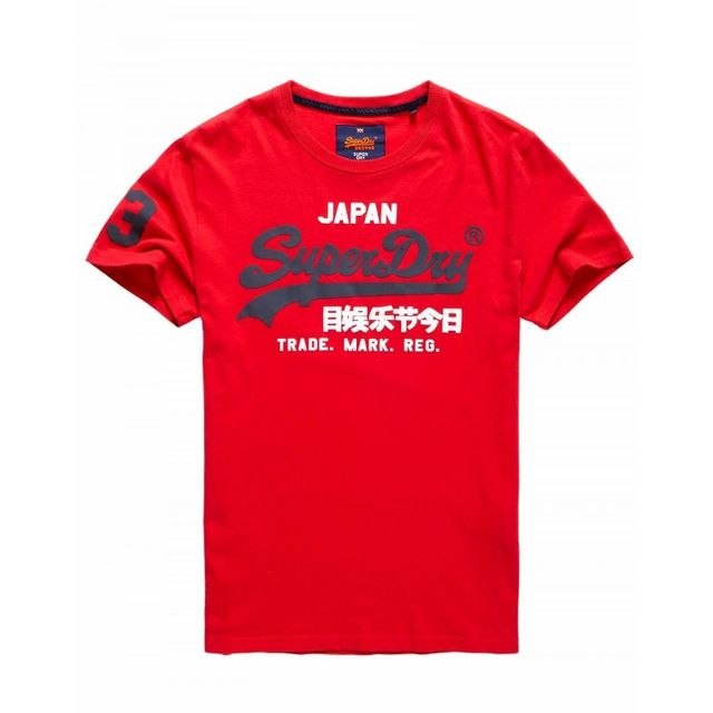 4fdfed38 Superdry - T-shirt Vintage Logo Duo Rouge - pas cher Achat / Vente Tee  shirt homme - RueDuCommerce