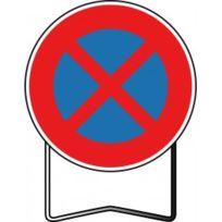 NADIA SIGNALISATION - NADIA- panneau de signalisation de prescription Arrêt et stationnement interdit type BK - BK6D650SSUPPORT