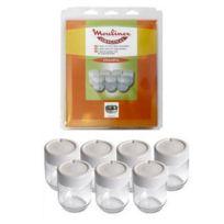 Moulinex - Lot de 7 pots en verre avec couvercle - Yaourtière