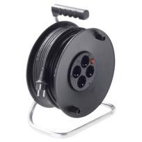 Bachmann - Kabeltrommel, Multiple,16 A/250 V,IP20 50M - · 4 Schutzkontaktsteckdosen 250 V ~ Sans Deckel· IntÉGRÉE 1-POLIGER Thermo