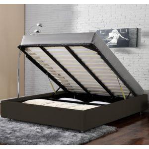 confort lit coffre clever 160x200 cm chocolat pas cher achat vente structures de lit. Black Bedroom Furniture Sets. Home Design Ideas