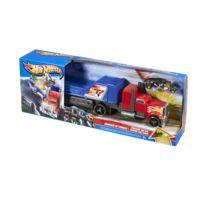 Hot Wheels - Transporteur Super Crash : Camion rouge et bleu
