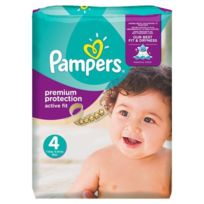 Pampers - Active Fit Taille 4, 8 a 16kg 168 couches