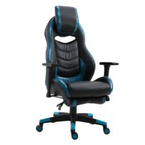 HOMCOM - Fauteuil de bureau manager grand confort style baquet racing gamer pivotant  inclinable avec tétière b7005fc6f2b1