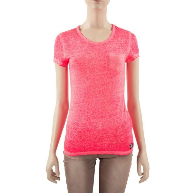 Superdry T shirt rose fluo femme pas cher Achat Vente
