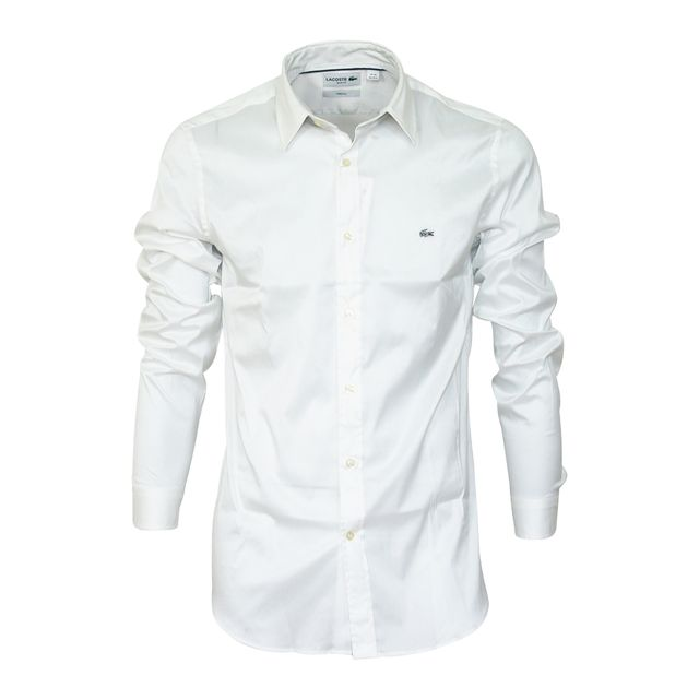303c9c99ee Lacoste - chemise Ch2561 blanche - pas cher Achat / Vente Chemise homme -  RueDuCommerce