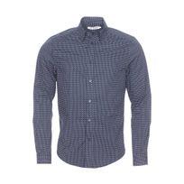 """Ben Sherman - Chemise droite en coton bleu marine à petits motifs """"cachemire"""