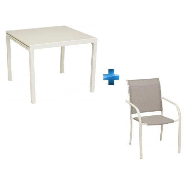 Hyba Table Extensible De 901804 Fauteuils Tello Ensemble 4RqS5Ac3Lj
