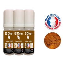 E One+ - 3 E-liquides 10ml Tabac Fort 9 mg/ml fabrication Francaise