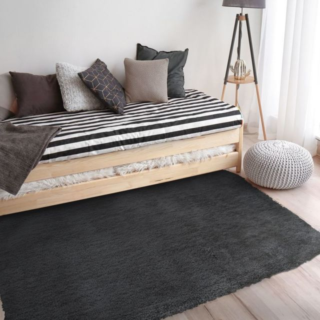 mon beau tapis tapis best of 190x130cm noir pas cher achat vente tapis rueducommerce. Black Bedroom Furniture Sets. Home Design Ideas