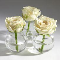 Serax - Vase boule en verre trio solifleur 6x8cm - set de 3 Farandole