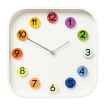 Karedesign - Horloge murale Numbers Colore 31x31cm Kare Design