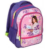Violetta - Sac à dos scolaire cartable école fille enfant Disney - Violet