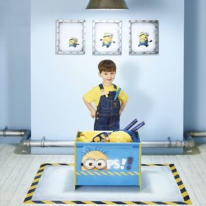worlds apart coffre jouets bois et tissu minions pas cher achat vente casiers de. Black Bedroom Furniture Sets. Home Design Ideas