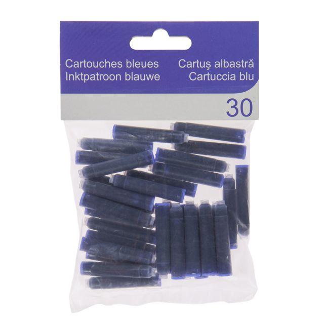 CARREFOUR Lot de 30 cartouches - Bleu