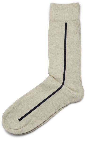 Selected - Chaussettes Single Ecru - 41/44