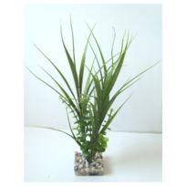 Labeo - Décoration Plante en Plastique Herbe Euca Verte