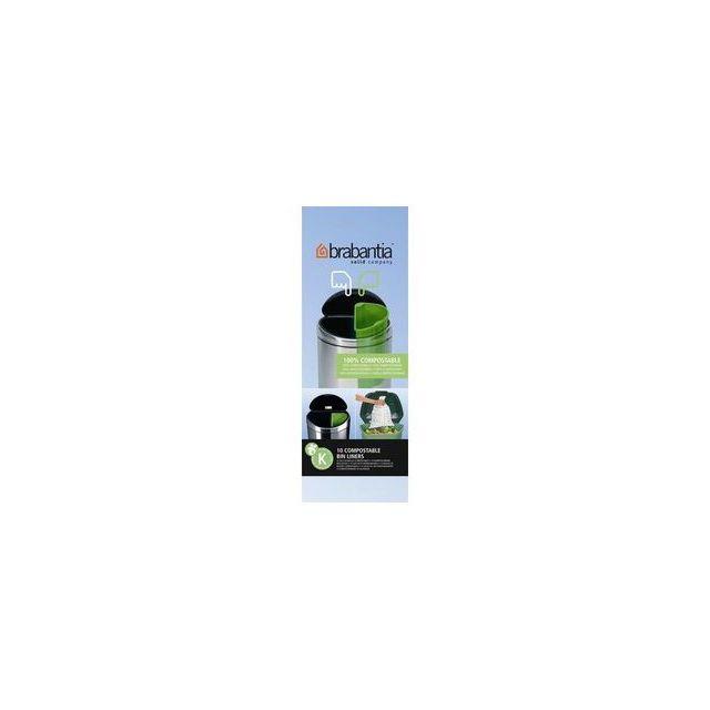 brabantia sac poubelle 10l biod gradable rouleau de 10 sacs pas cher achat vente sacs. Black Bedroom Furniture Sets. Home Design Ideas