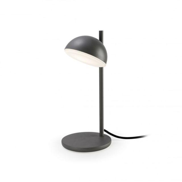 Leds C4 Lampe Talk, aluminium et verre, gris urbain