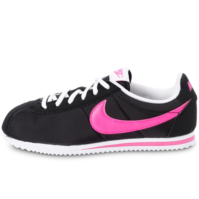finest selection a8054 8f496 Nike - Cortez Nylon Noire Et Rose Baskets - pas cher Achat  Vente Baskets  enfant - RueDuCommerce
