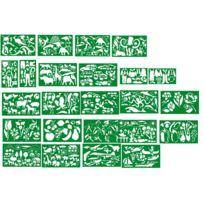 Quercetti - pochoir plastique souple assortis - lot de 24