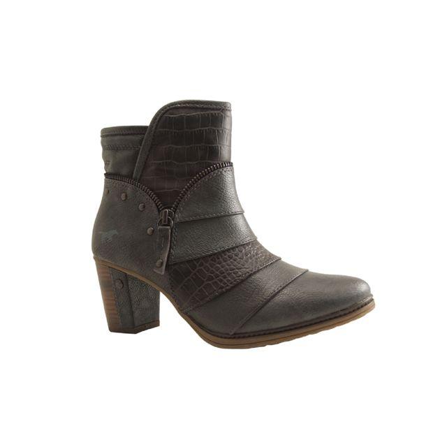 Mustang - Shoes-1199 517-BOOTS-GRIS 40 - pas cher Achat   Vente Sandales et  tongs femme - RueDuCommerce fe4dad65715f