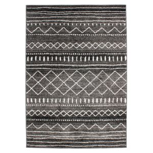 mon beau tapis tapis motifs ethniques noir blanc 133x190cm florence ethno maroc pas cher. Black Bedroom Furniture Sets. Home Design Ideas