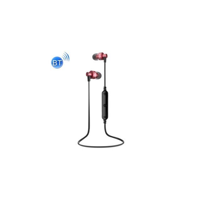 Auto-hightech - écouteur stéréo sans fil Bluetooth pour sport avec contrôle de fil + Micro, prise en charge de l'appel main libre, pour iPhone