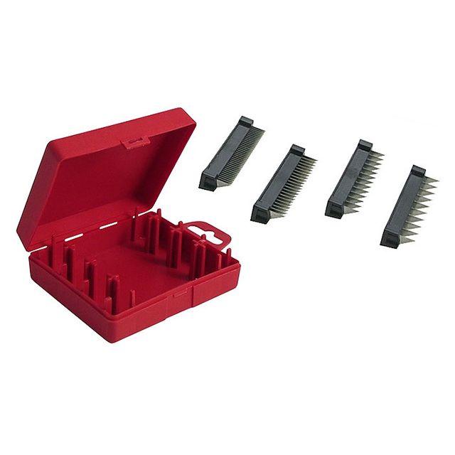 BRON COUCKE boite de 4 blocs effileurs 2/4/7/10mm pour 25000, 15000 et 4100clr - 10211