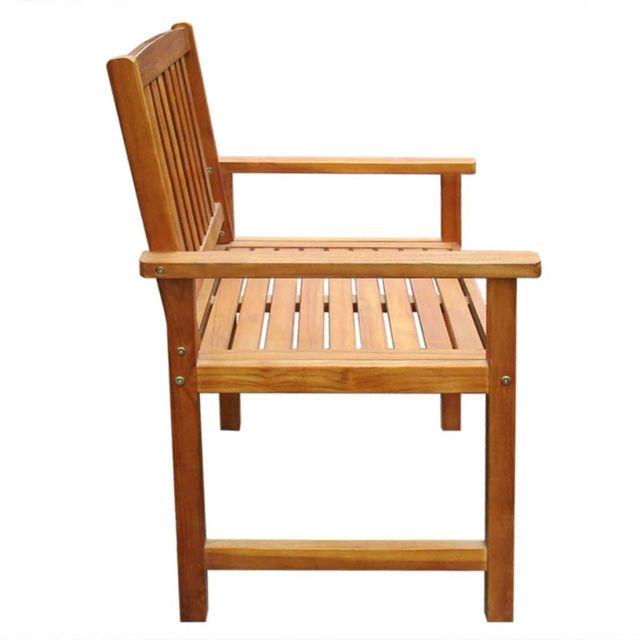 Sièges d'extérieur serie Georgetown Icaverne Chaise de salle à manger d'extérieur 2 pcs Acacia massif Marron