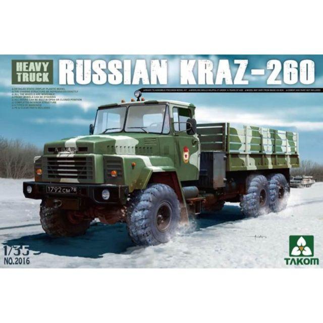 Takom Maquette Véhicule Militaire : Camion soviétique KrAZ-260