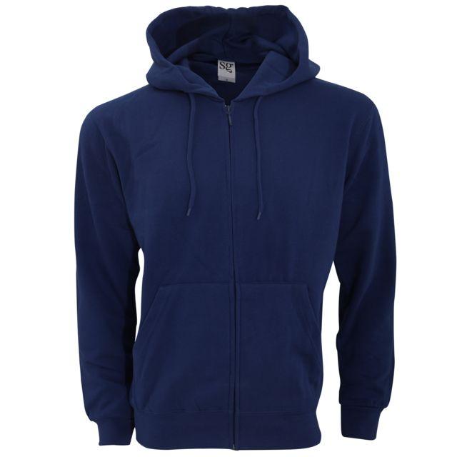 hoodie homme bleu marine