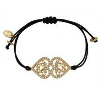 Reminiscence - Promo Bracelet Réminiscence 1BRA214P - Bracelet Noir Doré Femme
