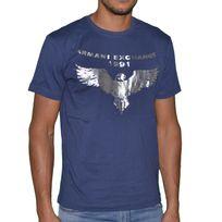 Armani - Exchange - Tee Shirt Manches Courtes - Homme - Ax 11 - Navy Bleu Foncé