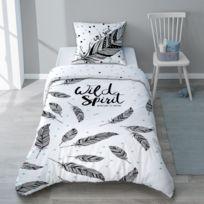 housse couette graphique achat housse couette graphique rue du commerce. Black Bedroom Furniture Sets. Home Design Ideas