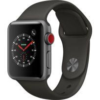 Watch 3 Cellular 38 - Alu noir / Bracelet Sport gris