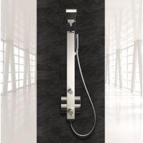 Drop - Colonne de Douche Mitigeur Idea 1 Aluminium Anodisé