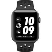 Apple - Watch Series 3 Sport Nike Plus 42mm Aluminium Anthracite Plastic Sport Band Black