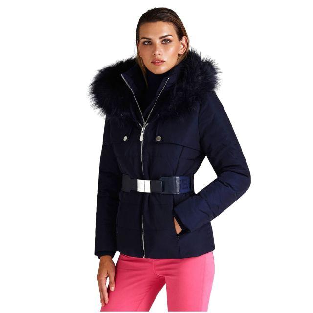 54a7390dc73 Guess - Doudoune Femme Violette Bleu Marine - Taille - Xl - pas cher Achat    Vente Blouson femme - RueDuCommerce