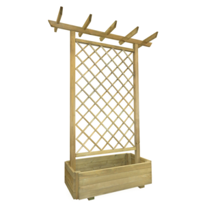 Rocambolesk - Superbe Jardinière pergola en bois 162 x 56 x 204 cm Neuf 0cm x 0cm