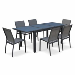 alice 39 s garden orlando gris 6 places pas cher achat vente ensembles tables et chaises. Black Bedroom Furniture Sets. Home Design Ideas