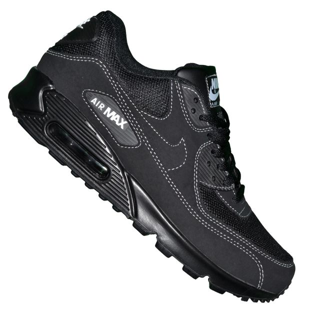 ef67f50d9b78 Nike - Basket - Homme - Air Max 90 100 - Noir Coutures Blanches - pas cher  Achat   Vente Baskets homme - RueDuCommerce