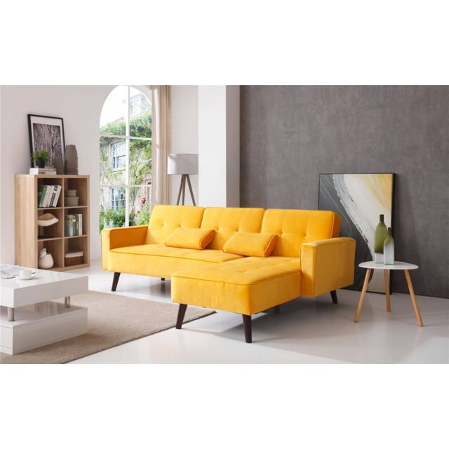 bobochic lisea canap d 39 angle r versible convertible. Black Bedroom Furniture Sets. Home Design Ideas