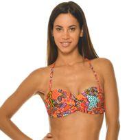 7e37f7e16f Banana Moon - Haut de maillot de bain Bandeau Bonnet C Havana Sakata Rouge